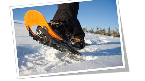 snowshoes in Saariselk
