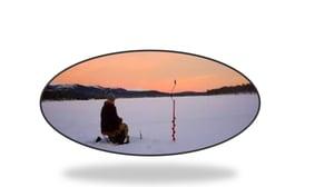 ice fishing on Lake Inari
