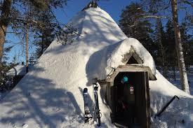 koti, resting hut,  along the ski track